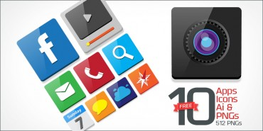 10 Free Apps Icons (PNGs & Vector File)