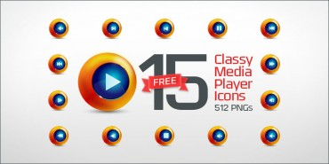 15 Free Classy Media Player Icons (PNGs & Vector File)