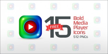 15 Free Bold Media Player Icons (PNGs & Vector File)