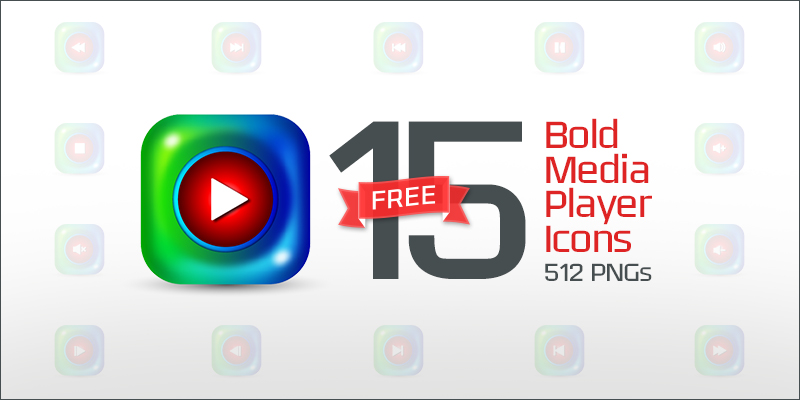15-bold-Media-Player-Icons