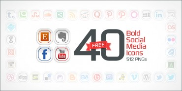 40 Free Bold Social Media Icons (PNGs & Vector File)