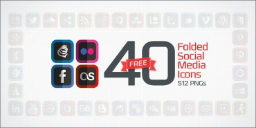 40 Free Folded Social Media Icons (PNGs & Vector File)