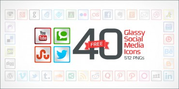40 Free Glassy Social Media Icons (PNGs & Vector File)