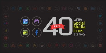 40 Free Grey Social Media Icons (PNGs & Vector File)