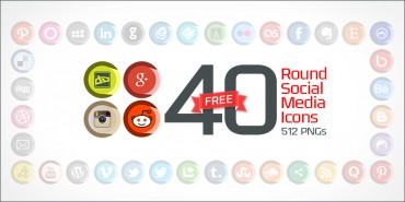 40 Free Round Social Media Icons (PNGs & Vector File)