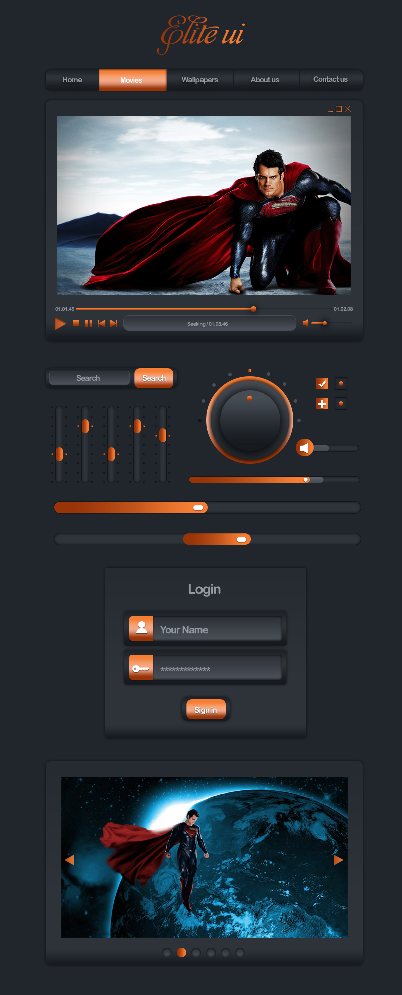 Elite Ui Design Psd