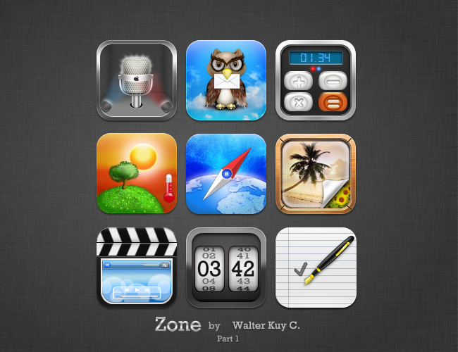 Zonehd iPod iPhone icons