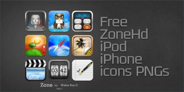 Free ZoneHd iPod iPhone icons (PNGs)