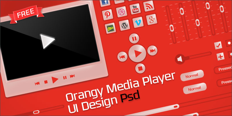 orangy-media-player-display