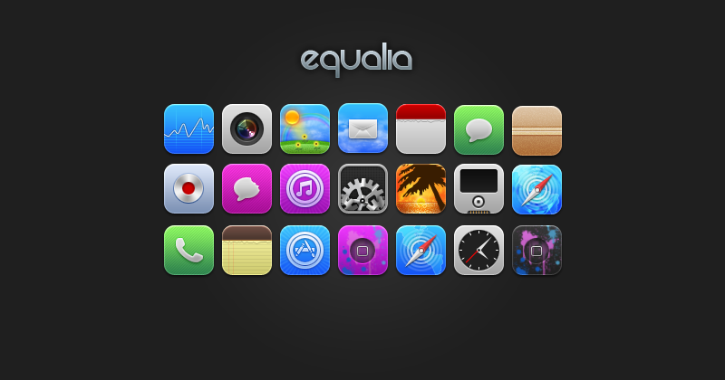 Equalia iPhone icons