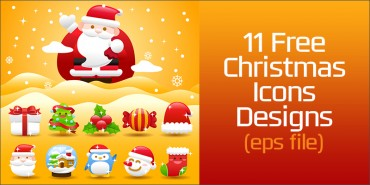 11 Free Christmas Icons (Ai file)