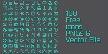 100 Free Icons (Vector File)