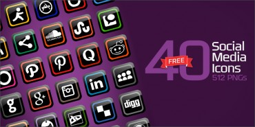 40 Free Social Media Icons (PNGs & Ai File)