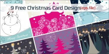 9 Free Christmas Card (Ai file)