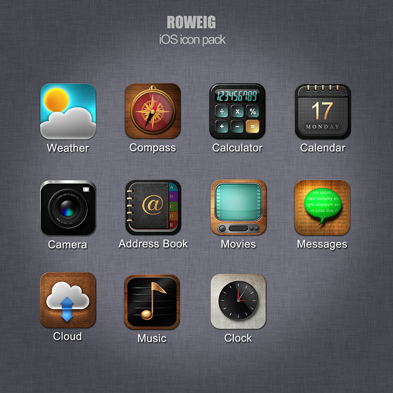 preview IOS Icons pack