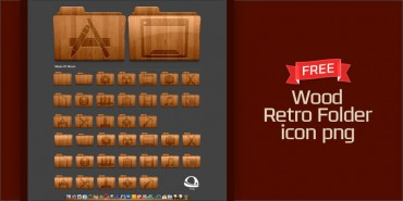 Free Wood Retro Folder icons (Pngs)