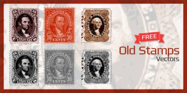 Free Old Stamps Vectors (Ai)
