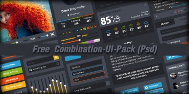 Free Combination UI Pack (Psd)