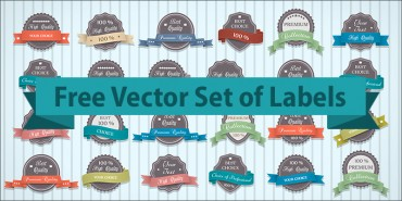 Free Vector Set of Labels (Ai)