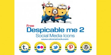 Free Despicable Me 2 Social Media Icons (Ai & Pngs)