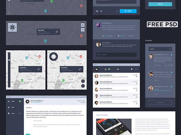 free-dark-ui-kit-psd