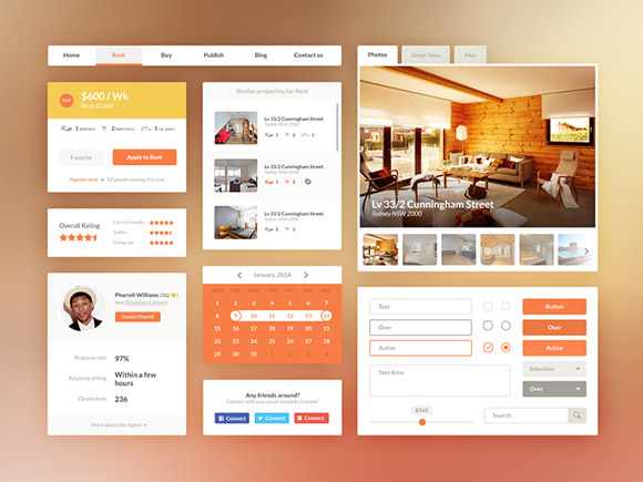 real-estate-booking-ui-kit-psd