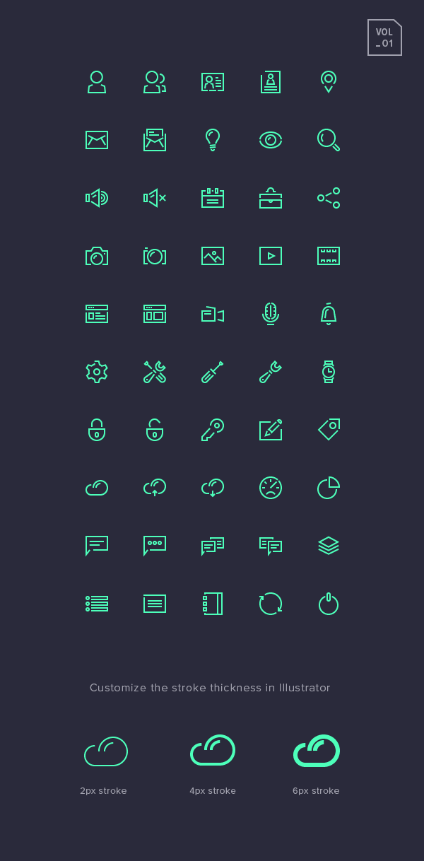 Stroke-Gap-Icons