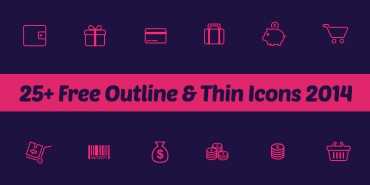 25+ Free Outline & Thin Icons 2014