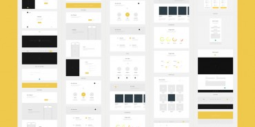 Free One Page Website Wireframes 2014 (Psd)