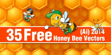 35 Free Honey Bee Vectors (Ai) 2014