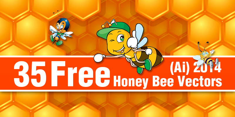 free honey bee vetors 2014