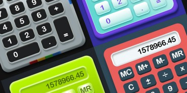 4 Free Professional Calculator UI Designs 2014 (Psd)