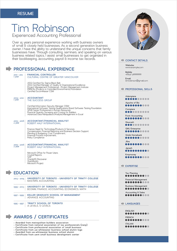 10 Best Free Professional Resume Templates 2014 Mobile. 10 ...
