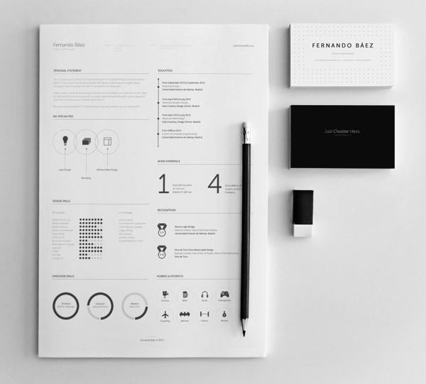 free resume template 4 10+ Best Free Professional Resume Templates 2014