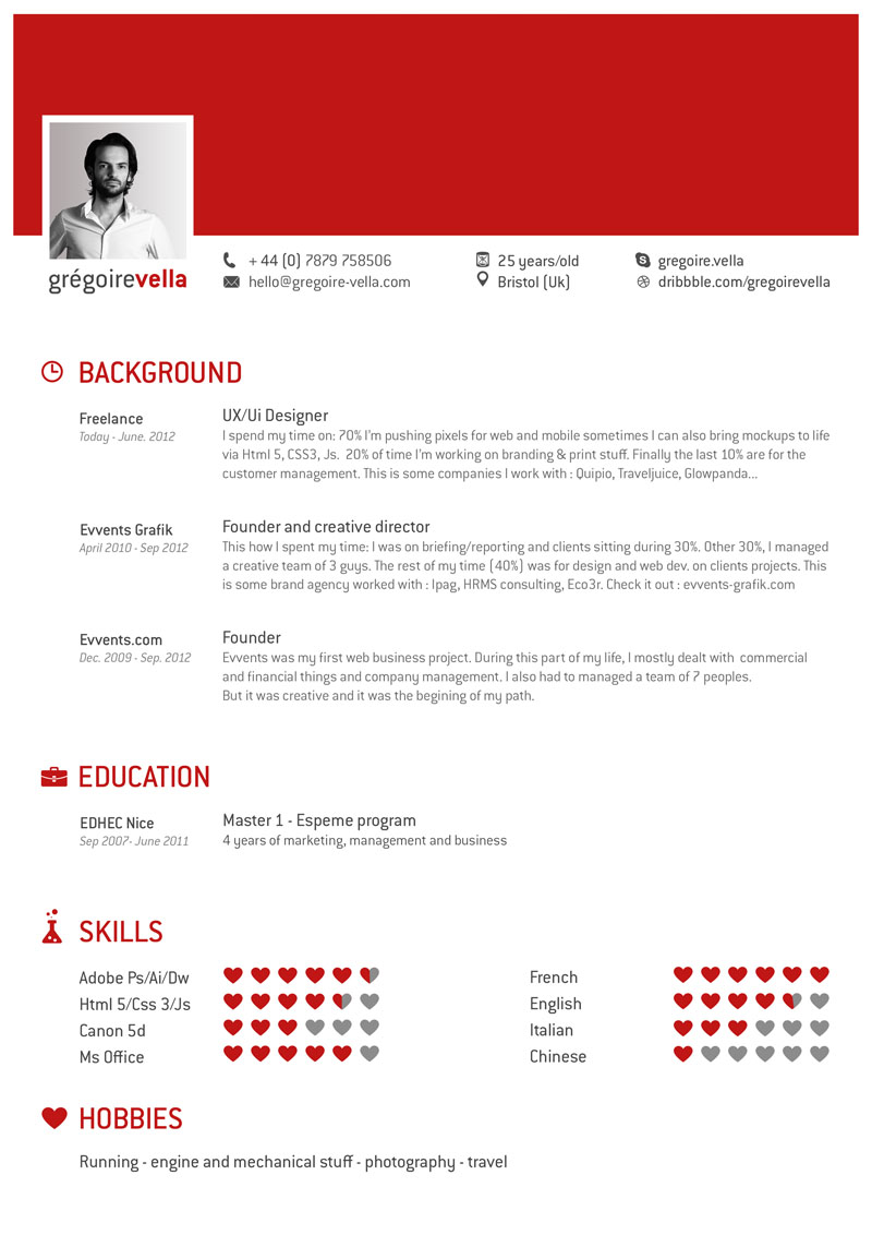 New resume format 2014 example