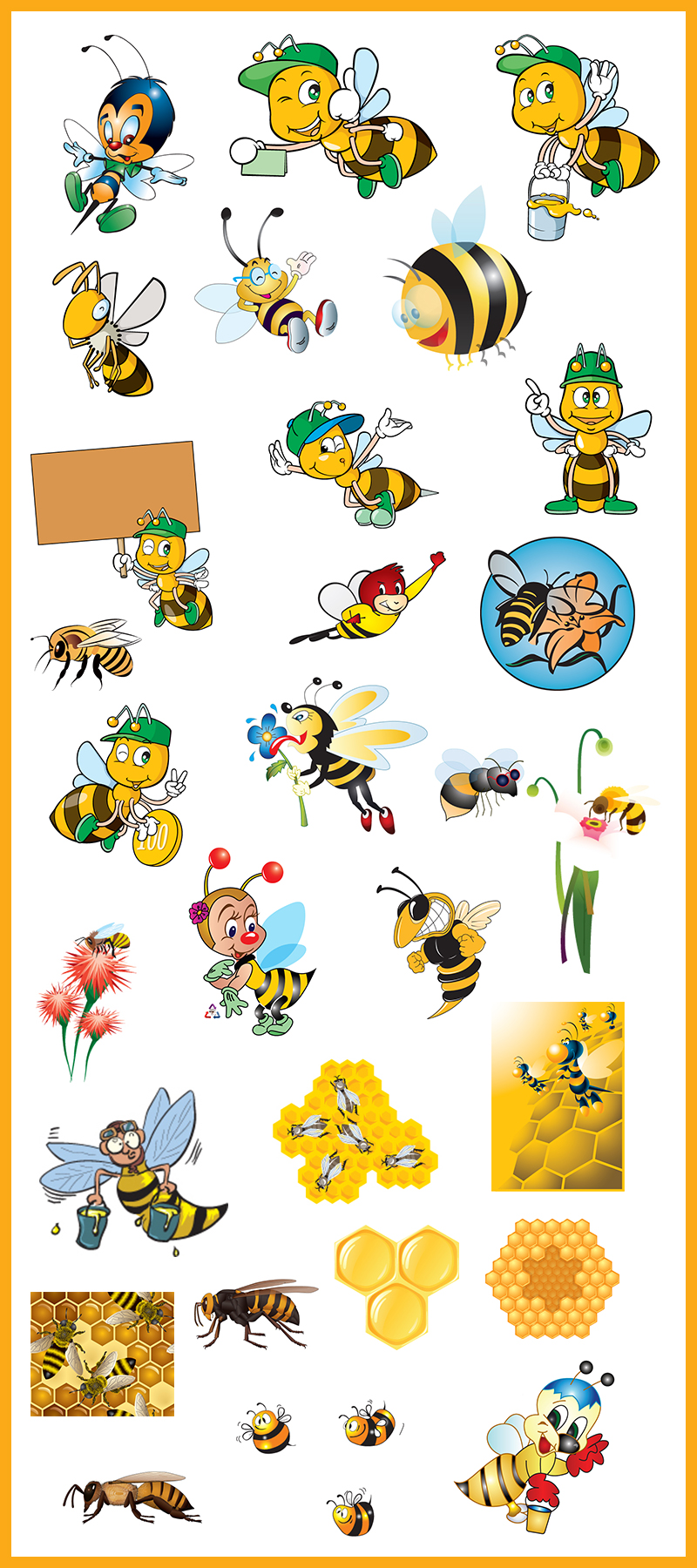 free honey bee vetors