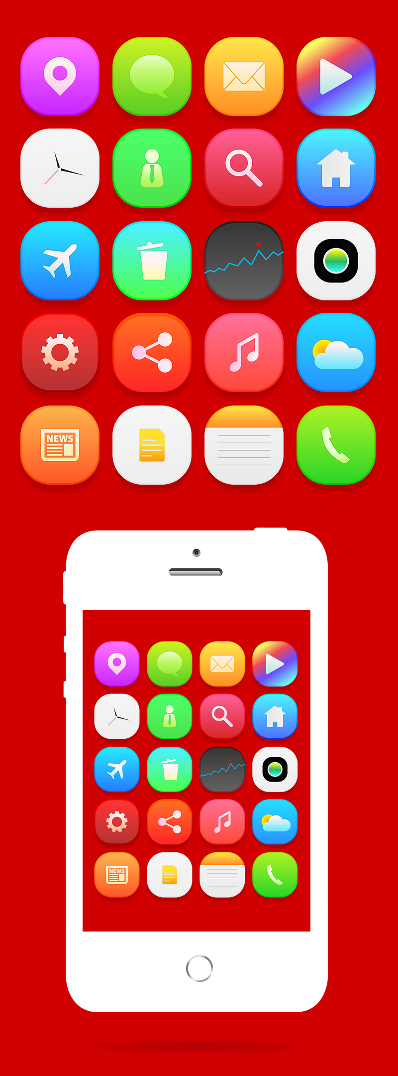 iOS8 Setting Icons 2014