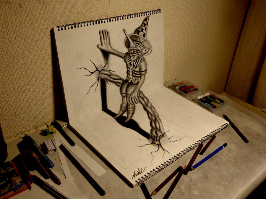 3d_drawing___residents_on_the_sketchbook_by_nagaihideyuki-d5npktf