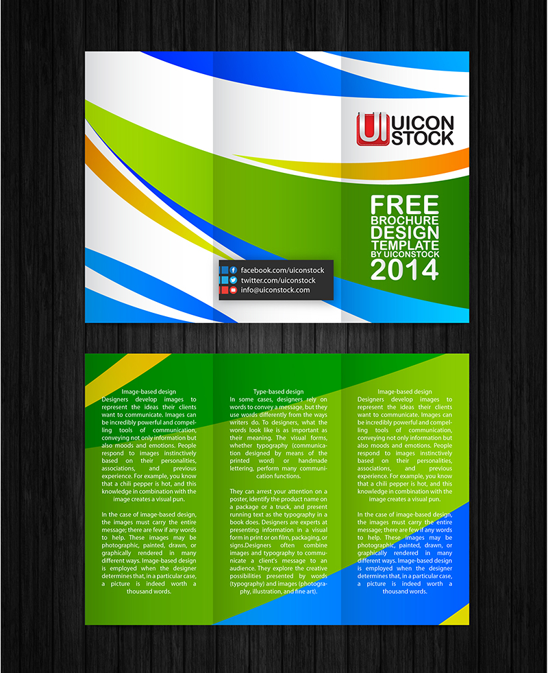 Free printable brochure design template for Free template brochure design