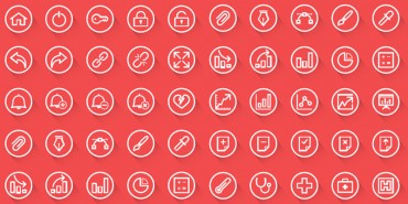 50 Free Slim Rounded Long Shadow Web & Android Icons