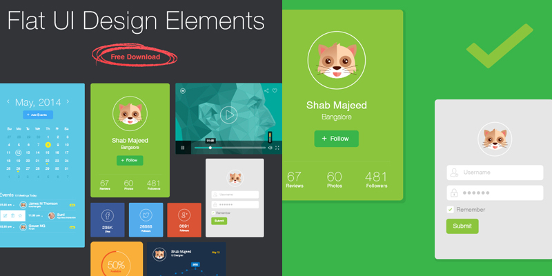 Flat Ui Design Elements Free Download 2014