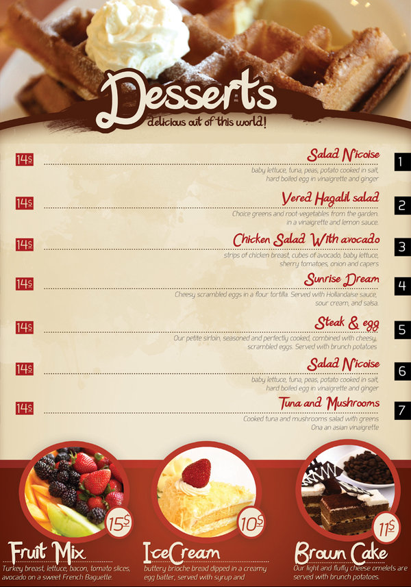 65 restaurant menu brochure designs for designers for Resturant menu templates