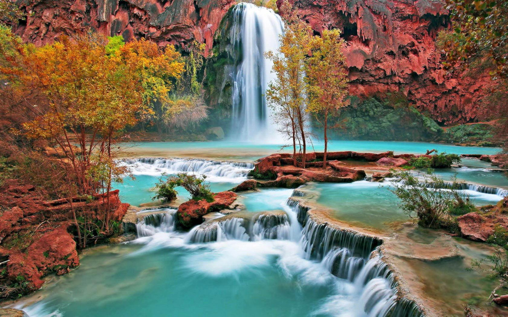 mountain-waterfall-beautiful-wallpaper