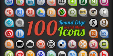 100 Round Edge Social Media Icons (Ai & Pngs)