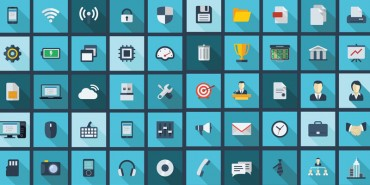 Free Flat Long Shadow Business and Technology Icons 2014