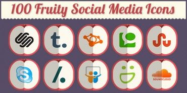 100 Fruity Social Media Icons 2014 (Ai & Pngs)