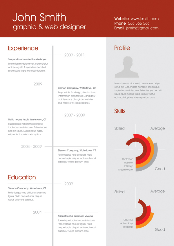 Best Free Professional Cv Resume Template 2014 (1)