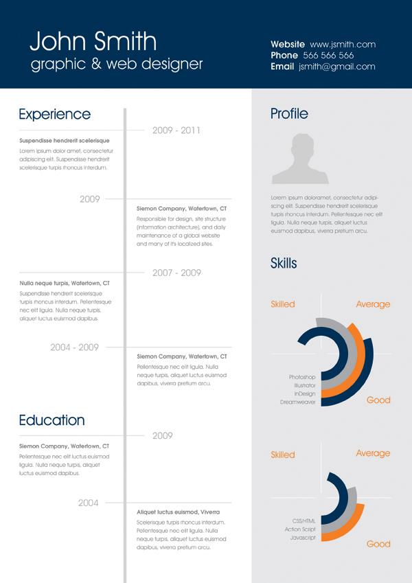insta one page responsive resume template free download professional multi psd