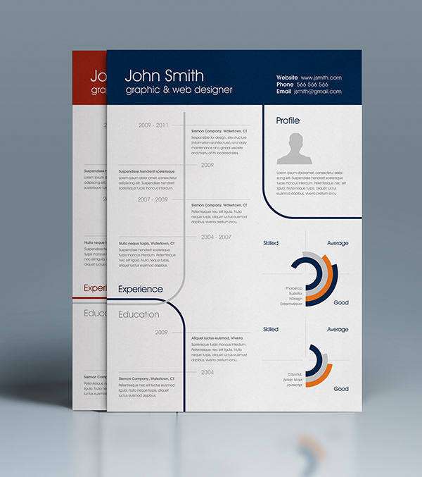best free professional cv resume template 2014 3 - Free One Page Resume Template