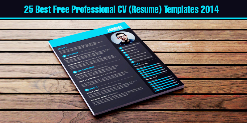 25 best free professional cv resume templates 2014 - Great Resume Templates Free